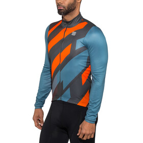 Sportful Volt Thermal LS Jersey Men blue stellar/anthracite/red fluo